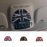 union jack car interior roof reading light lamp sticker cover for mini cooper f56 f55 countryman f60 clubman f54 accessories