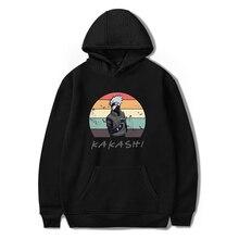 Kış Hoodies tişörtü Naruto Hoodie KAKASHI Anime Hoodie Streetwear Hip Hop giyim kore kapşonlu giyecek bayan uzun kollu üstleri