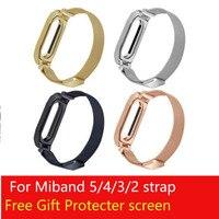 Ремешок для Xiaomi Mi Band 5 6, ремешок для наручных часов, металлический ремешок для Miband 4 3 2, браслет для наручных часов