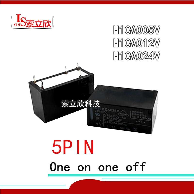 5 pçs/lote 100% novo relé originais H1CA005V H1CA012V H1CA024V Pode substituir G2R-1-12VDC 10A 5PIN 24 12 5V V V