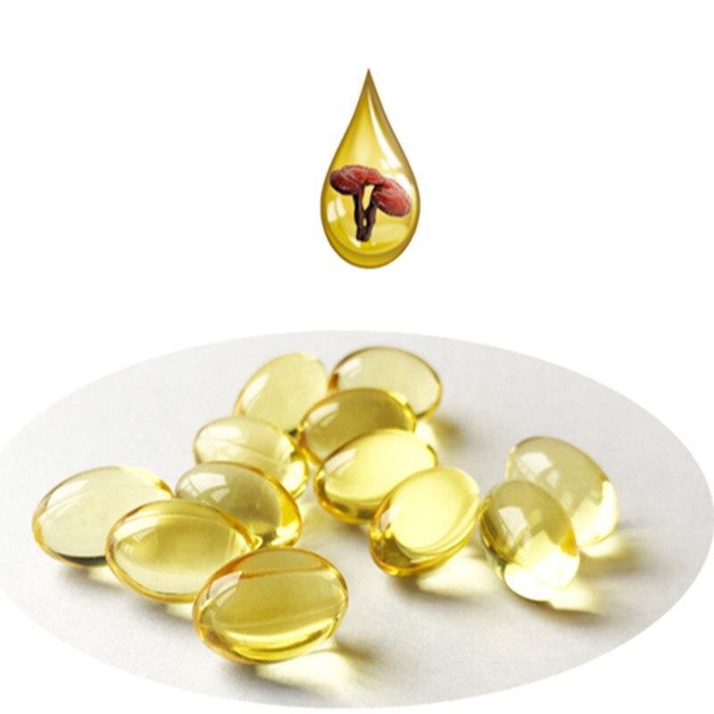 5001 óleo de extrato de esporos reishi triterpene30 %/duan-madeira ganoderma lucidumprove a imunidade do corpo cuidados com a pele whitening500mg