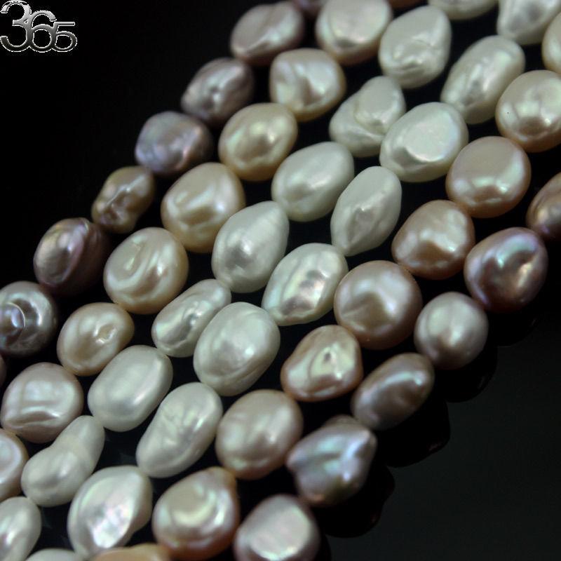 "Free Shipping 8-10mm White Purple Pink Freeform Reborn Keshi Natural Freshwater Pearl Jewelry Beads Strand 15"""