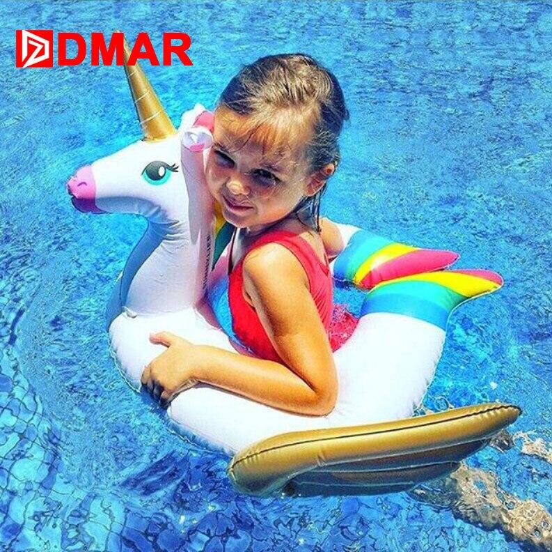 DMAR Детский Надувной Матрас Единорог Надувной Круг Для Плавания Для Детей Для Купания Новороженных Надувные Игрушки Для Бассейна Плажа Моря Для Семейного Путешествия