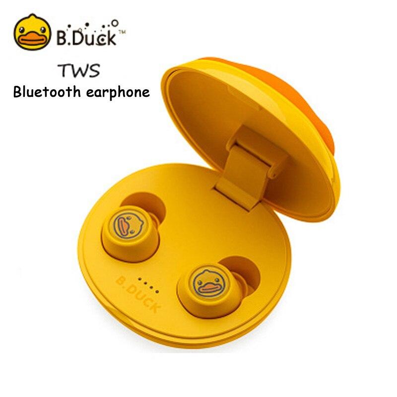 B. Subwoofer Duck-auriculares inalámbricos, Mini auriculares individuales con reducción de ruido, auriculares Bluetooth TWS Binaural Sigilo para deporte