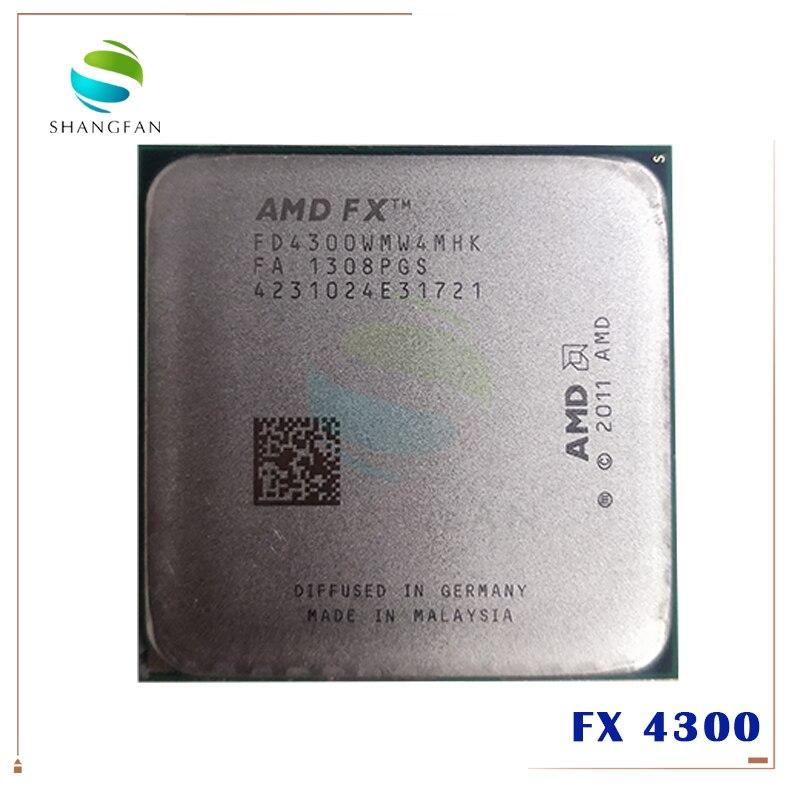 Четырехъядерный процессор AMD FX FX4300 3,8 ГГц, процессор FX 4300 FD4300WMW4MHK 95 Вт Socket AM3 +