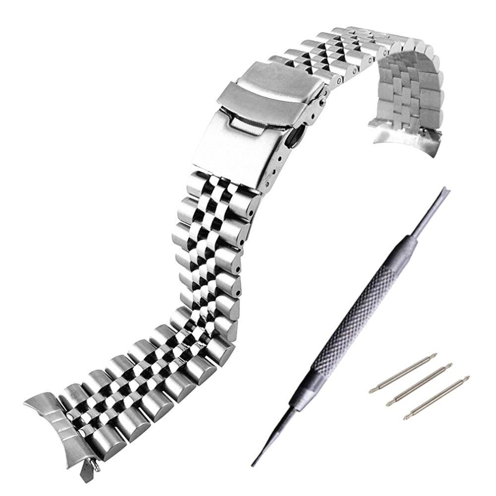 20mm 22mm pulseira de banda wacth para mm300 sbdx001/012/01 6105 pulseira de relógio de aço inoxidável macio
