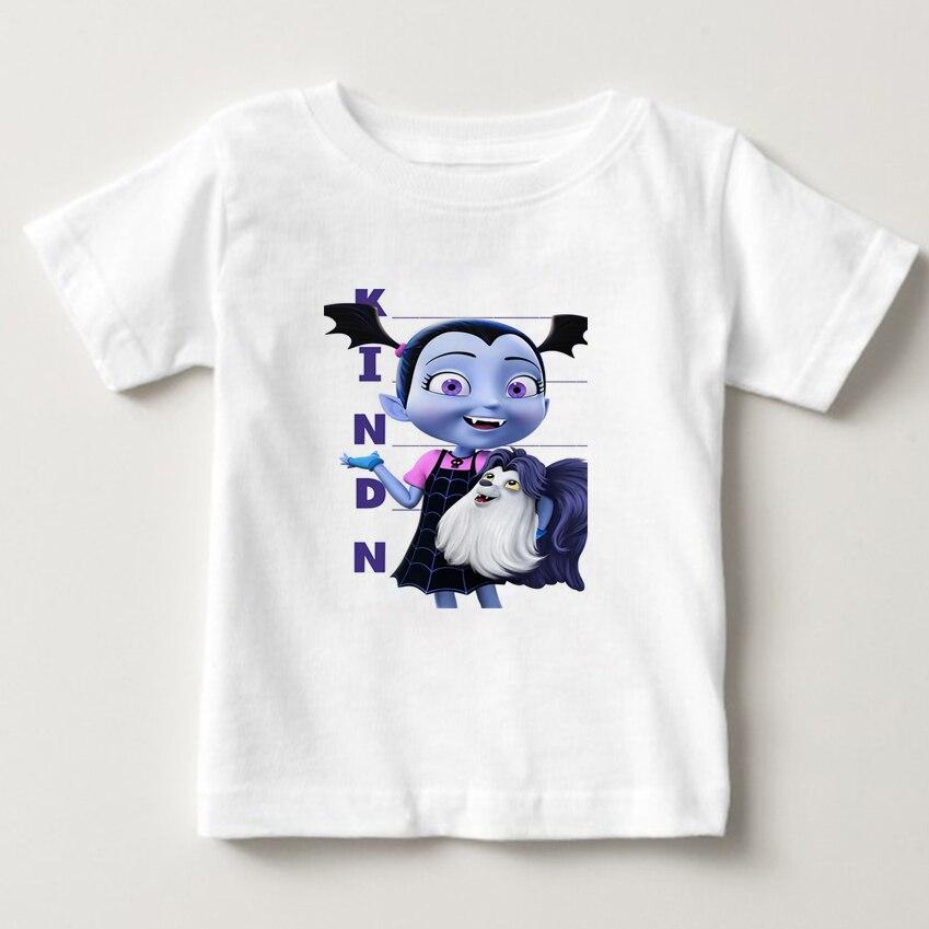 2018 summer T shirt Vampirina Print T-shirt Kids Cartoon t shirt Boy/girl Short Sleeve T Shirts Children O-Neck tee shirt 3T-8T недорого