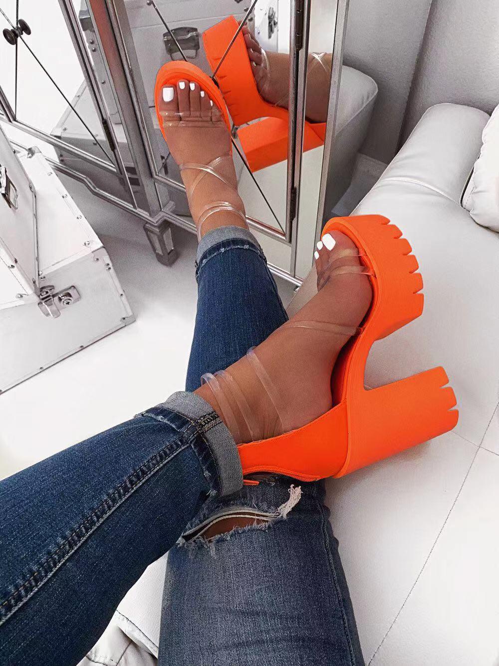 Sandalias de plataforma con suela gruesa de verano 2020, párr mujer de...