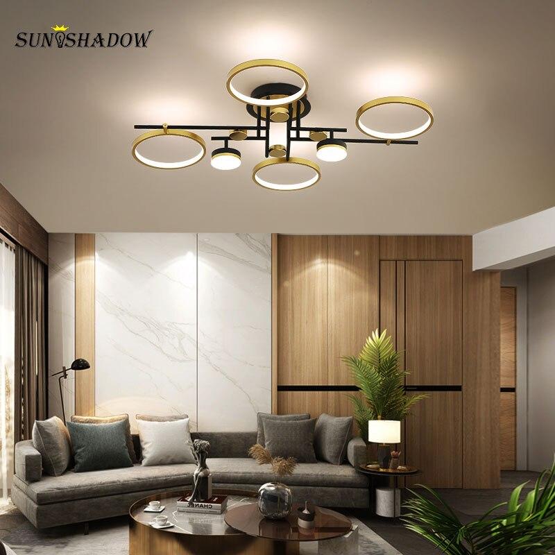 Светодиодные люстры, современные люстры для гостиной, спальни, столовой, кухни, осветительные приборы