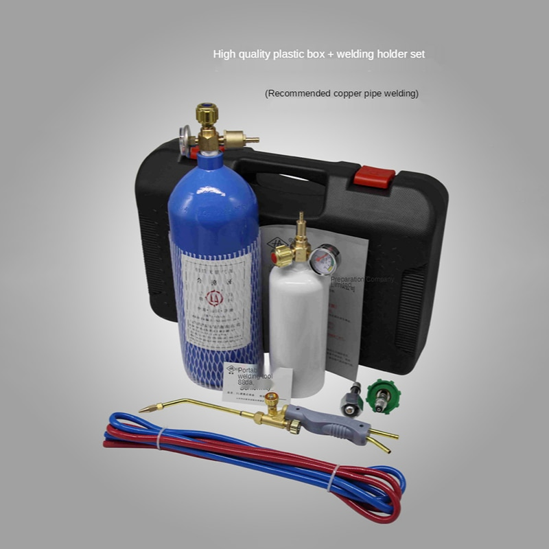 2L صغيرة المحمولة شعلة لحام مكيف الهواء الثلاجة أنبوب نحاسي شعلة لحام التبريد أداة إصلاح قطع الأكسجين