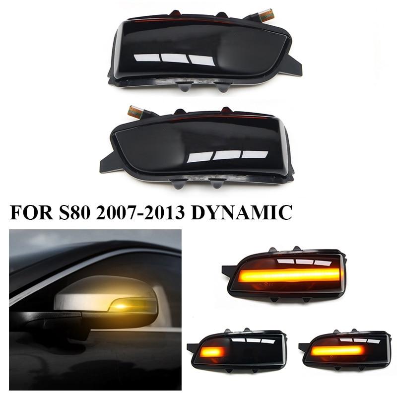 سيارة ديناميكية الجانب علامات LED المتدفقة بدوره مصباح إشارة الوامض المؤشر لفولفو C30 C70 S40 S60 V40 V50 V70 2008-2010