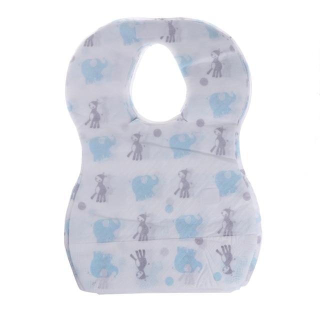 20pcs/lot Sterile Disposable Bibs Children Baby waterproof Eat Bibs With Pocket 4