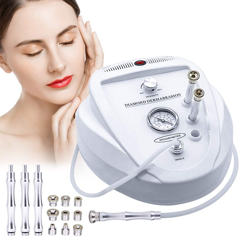 Diamond Microdermabrasion Machine High Suction Power Dermabrasion Peeling  Equipment Microdermabrasion Tool for Home Salon Use