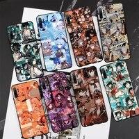 genshin impact keqing xiao phone case for samsung s6 s7 s8 s9 s10 edge plus s10 5g s20 s21 s30ultrs 5g fundas cover