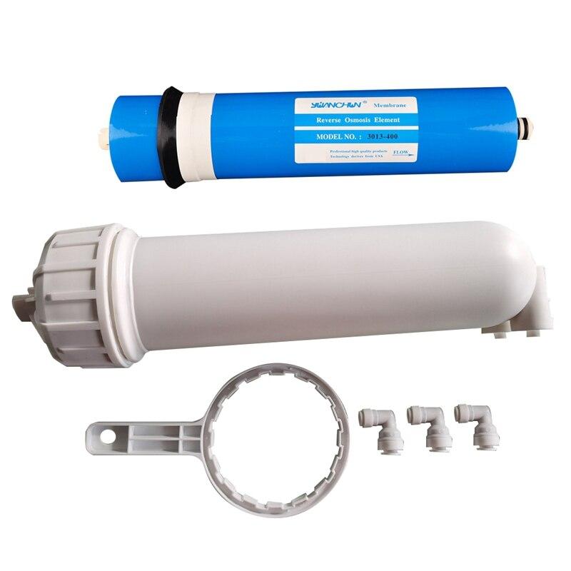 400 GPD RO غشاء ارتشاح عكسي ، 1/4 بوصة تركيبات توصيل سريعة ، لنظام تصفية مياه الشرب المنزلية تحت الحوض