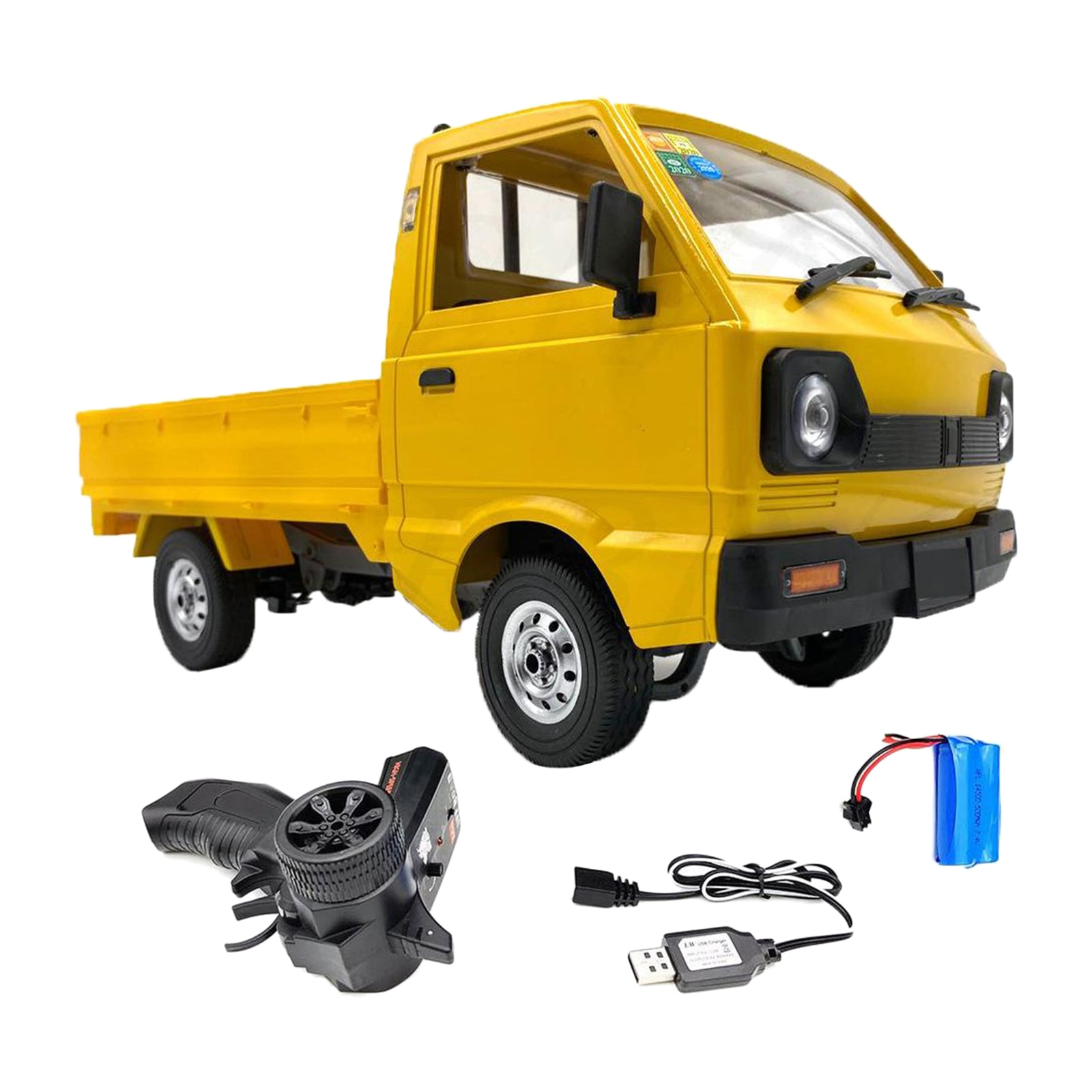 TOY WPL RC TRUCK CAR 1:10 4WD BRUSH MOTOR LED LIGHT AND 1-3 BATTERY