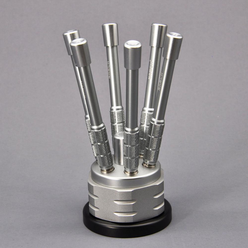 Nanch عالية الدقة S2 مفك مجموعة مع 6 مقابض الألومنيوم ، 30 في 1 مفك براغي صغير مجموعة للأعمال المهنية DIY بها بنفسك