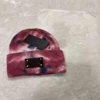 unisex beanie men hat women winter fisherman beanies for ladies tie dye print autumn hip hop knitted cap skullcap