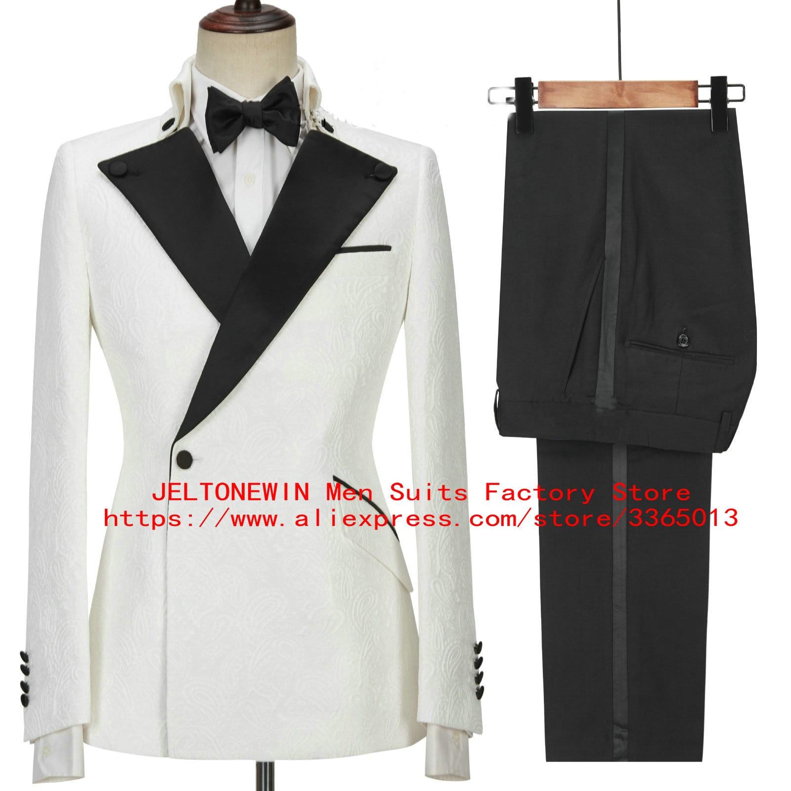2021 الوردي الرجال الدعاوى سليم صالح العريس الزفاف البدلات للرجال بلغت ذروتها التلبيب الرسمي حفلة موسيقية البدلة 2 قطعة زي أوم (سترة بانت)