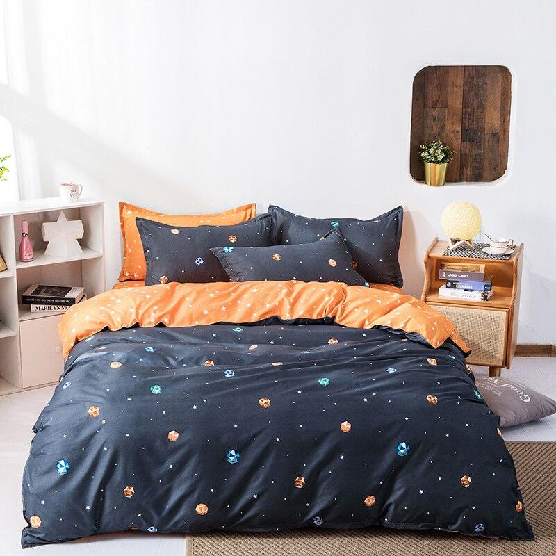 ستوكات 2 وسادة شمس و 1 غطاء سرير الملكة ، الملك ، التوأم ، كامل الحجم ، 4 قطع طقم سرير 1 حاف الغطاء