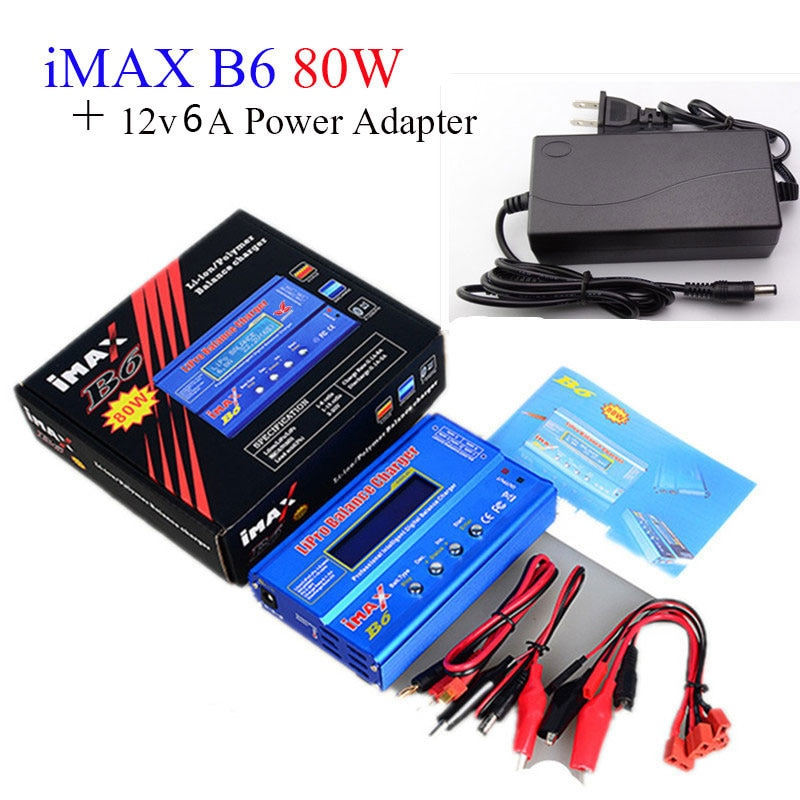 Battery Lipro Balance Charger iMAX B6 charger Lipro Digital Balance Charger 12v 6A Power Adapter Cha