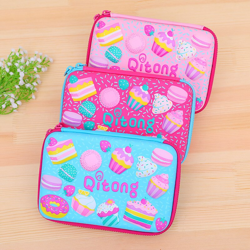 candy color large capacity pencil case eva pen pouch bag for girls cute school pencil box sweet cake pencilcase stationery store Cute Unicorn School Pencil Case Kawaii 3D Pen Box for Girls Boys Pencilcase EVA Cartridge Bag Big Penal Large Pouch Stationery