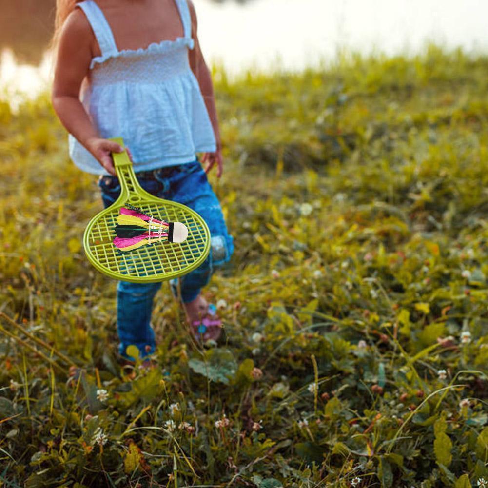 Цветной бадминтон 3 шт. уличные детские развлекательные упражнения бадминтон прочный фитнес цветной ful Q5z3