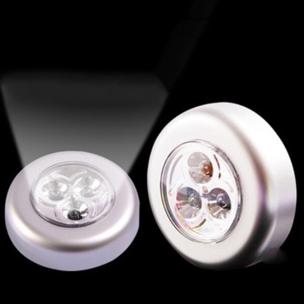 Emergency Mini 3 LED Tap Touch Lamp Sticker Wall Lamp Cabinet Closet Lighting Corridor Lights LED Flashlights Night Lamps