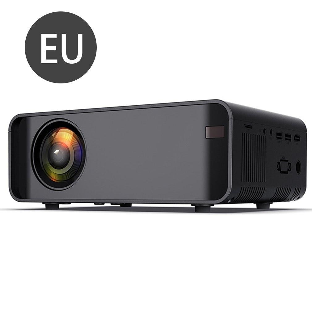 أسود المحمولة العارض عالية الوضوح 1080p الهاتف المحمول واي فاي اللاسلكية نفس شاشة عرض عارض فيديو المسرح المنزلي