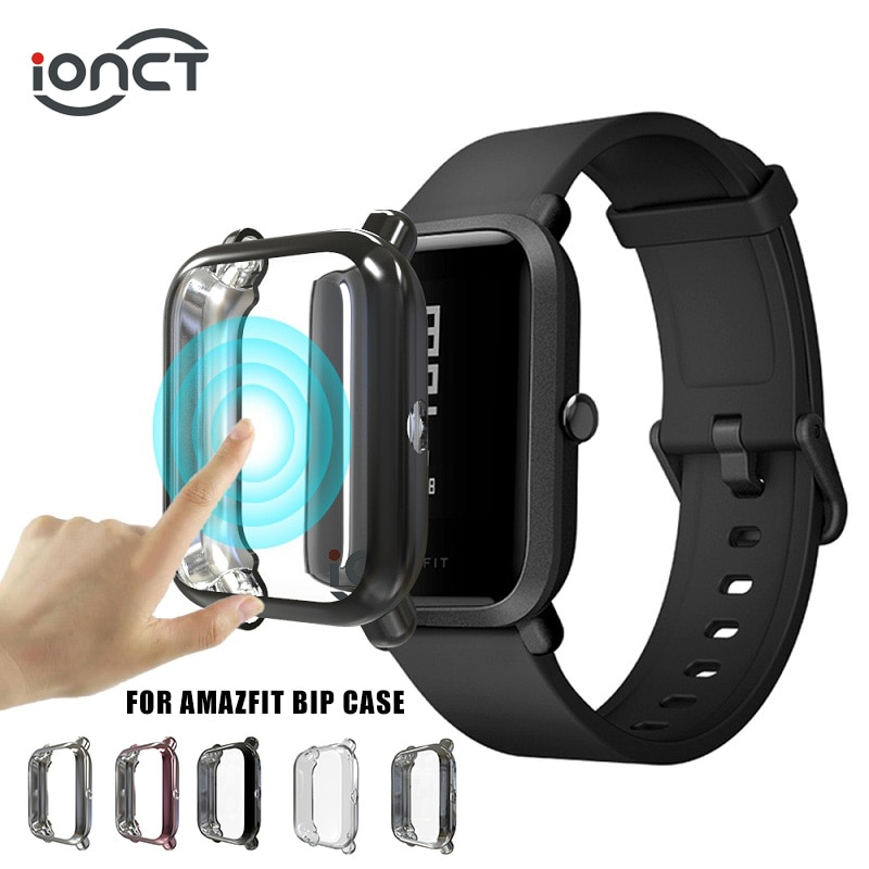 iONCT Full Cover TPU Case For Xiaomi Amazfit Bip case watchband Huami Amazfit bip Lite Cases bip S S