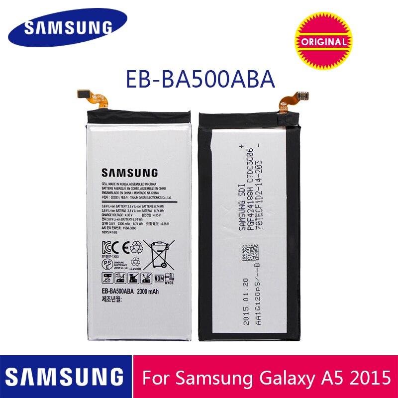 Batería de teléfono Original SAMSUNG EB-BA500ABE 2300mAh para Samsung GALAXY A5 2015 SM-A500 A5000 A5009 A500F baterías de repuesto