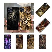 NBDRUICAI Steampunk gear Black TPU Soft Rubber Phone Cover for iPhone 11 pro XS MAX 8 7 6 6S Plus X 5S SE XR case