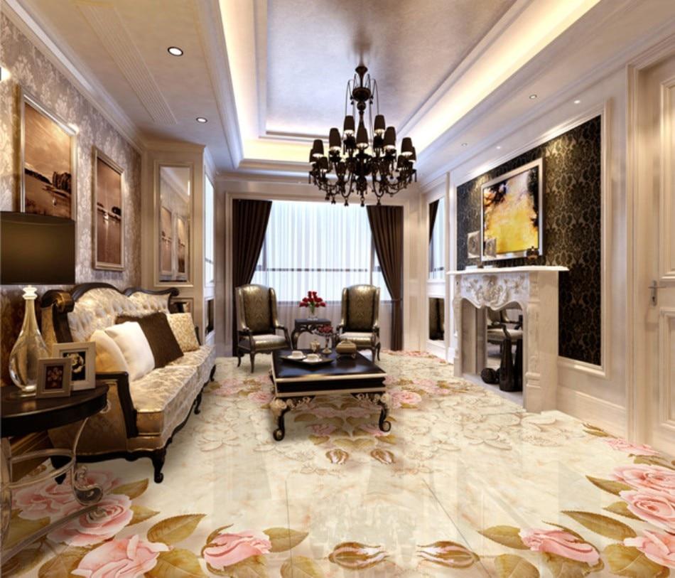 Suelo 3d papel tapiz de murales para sala de estar mármol parquet suelo 3D pintura de suelo papel tapiz 3d