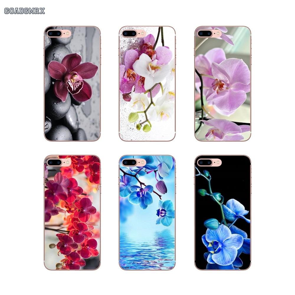 Hermosa orquídea flores patrón suave transparente casos para Huawei P inteligente G7 G8 P7 Mate 10 P20 Pro P8 P9 p10 Lite Mini GR5 2017