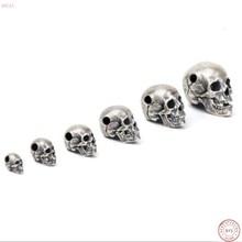 2019 new style jewelry S925 Silver Gothic Punk Retro Skull Pendant for men thai silver Fashion Pendant