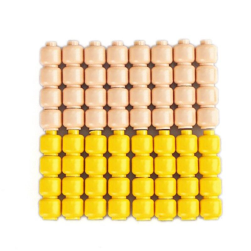 Juego de 5 unidades de llavero de Color aleatorio, bloques de corazón, accesorios de bloques de construcción, conjunto de modelo de llavero, Juguetes DIY para llaves de niños