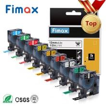 Fimax 1 pièces 18443 18431 18434 18444 Compatible DYMO Rhino IND vinyle étiquette 18432 1805430 1805431 pour Dymo Rhino 4200,5000,5200