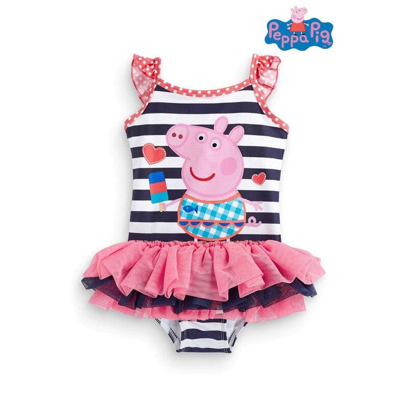 Peppa pig anime figura menina maiô peppa pig banho tankinis menina festa de aniversário suprimentos praia presente brinquedos para crianças