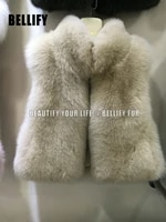 lady real fox fur gilet for women early autumn fashion new crop style fur vest