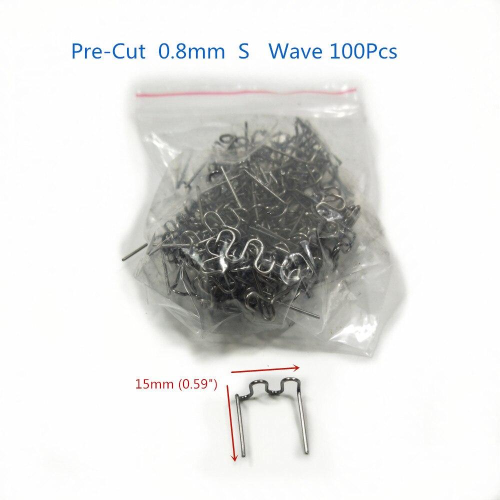 100 pces 0.8mm thermo thermo grampos kit de reparo para grampeador quente pára-choques automóvel