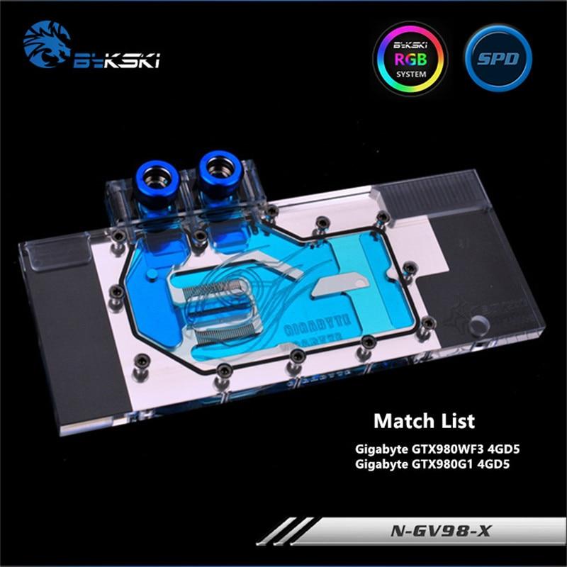 Bykski Full Cover Graphics Card Water cooling Block use for GIGABYTE GTX980WF3 4GD5/ GTX980G1 4GD5 Copper Radiator Water Block