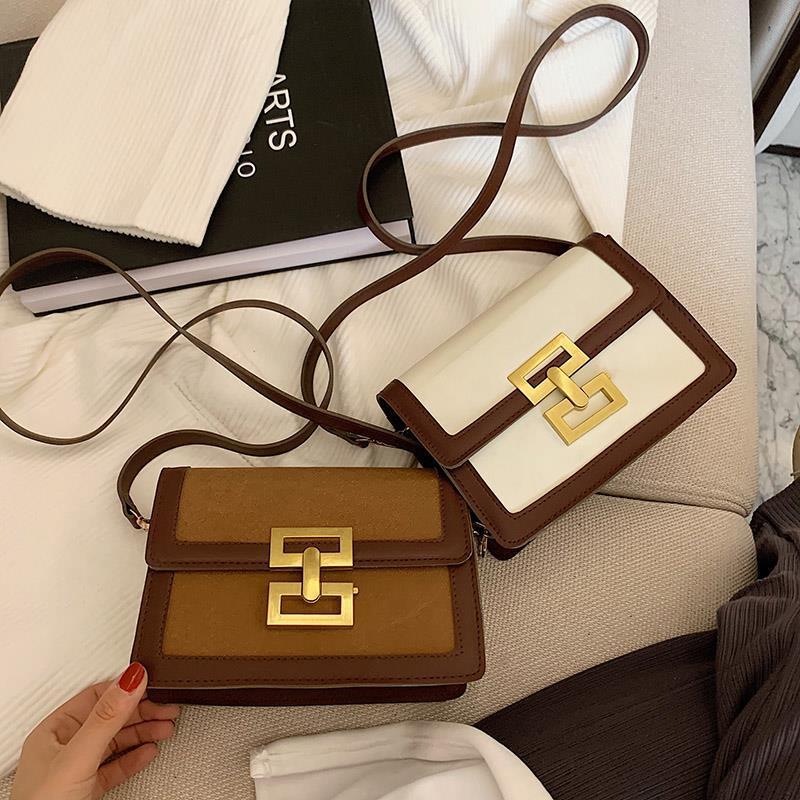 2021 Women Messenger Bag Korean Version Small Square Bag Retro Bag Female Handbag Shoulder Diagonal Cross Body Bags