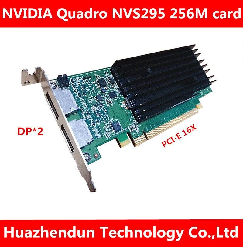ل ديل محطة العمل بطاقة جرافيكس كوادرو NVS295 PCI-E DP HD واجهة 256 متر المهنية ثنائي الشاشة بطاقة جرافيكس 1 قطعة