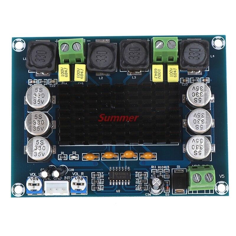 Hot 12V-24V TPA3116 D2 120W+120W Dual-channel Stereo Digital Audio Power Amplifier tpa3116 audio amplifier board pbtl single dual channel power amplifier dc 12v 24v amp