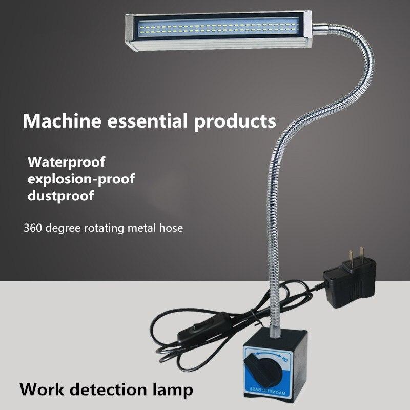 Lámpara Industrial resistente al agua de 10W para máquina CNC, fresadora/máquina de coser, Lámpara de trabajo, brazo largo flexible, Base magnética, lámpara Led para máquina