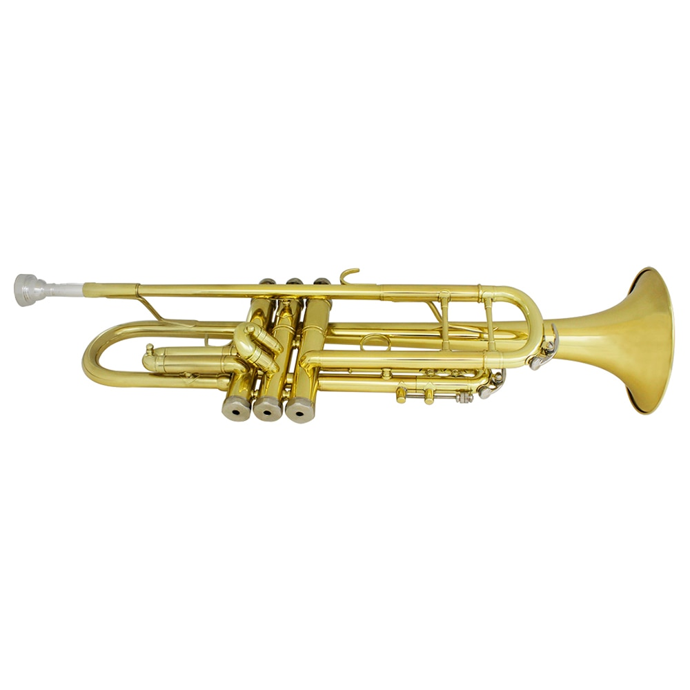 Golden Trumpet Bb B Flat Professional Brass Instrument Large Diameter Horn With Box & Mouthpiece Musical Instrument Accessories enlarge