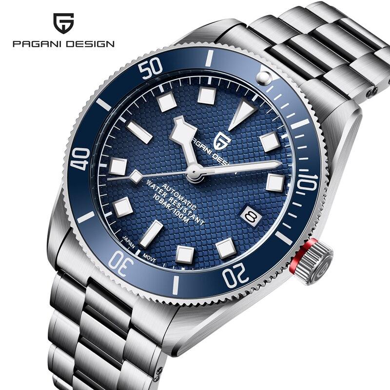 2021 PAGANI تصميم ساعة أوتوماتيكية للرجال BB58 ريترو NH35 ساعة ميكانيكية للرجال الفولاذ المقاوم للصدأ مقاوم للماء الفاخرة مضيئة