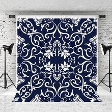 VinylBDS 10x10ft bleu petits fleurs enfants personnalisé Photo décors coton photographie décors ordinateur peint fond