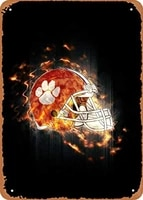 vintage look metal sign sports collection clemson tigers 8x12 tin plate wall decor