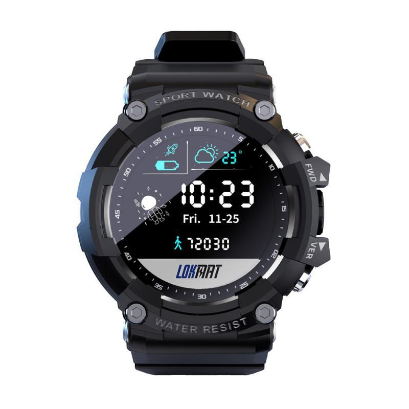LOKMAT هجوم 2 ساعة ذكية جهاز تعقب للياقة البدنية بلوتوث متوافق الساعات مراقب معدل ضربات القلب مقاوم للماء ساعة ل أندرويد IOS